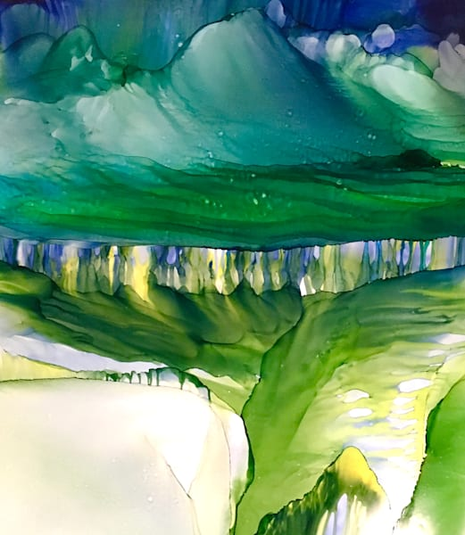 Impossible Plateau, Original Art   Sandy Smith Gerding Artwork