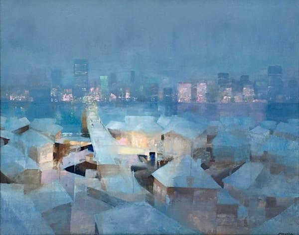 Misty Winter Bridge Art | MANTHA DESIGN