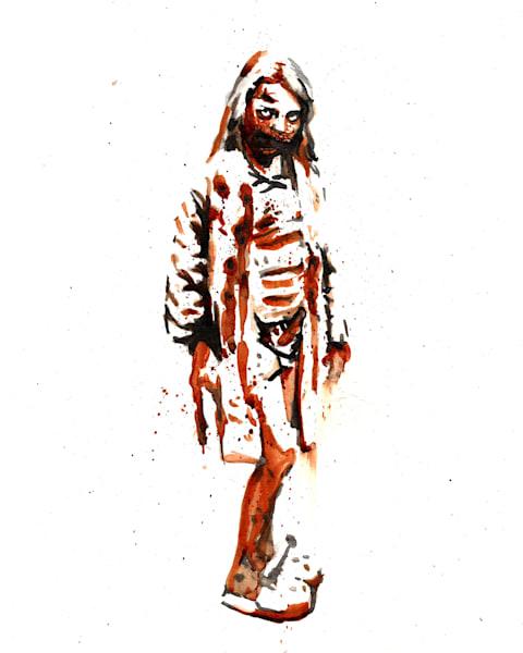 Bunny Slipper Zombie Art   Sunrise Galleries
