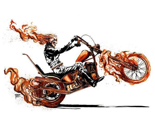 Ghostrider2 Art   Sunrise Galleries