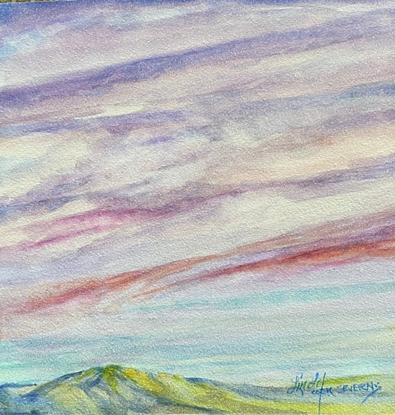 Lindy Cook Severns Art | Melting Sherbet Sky, original watercolor