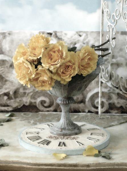 Yellow Roses Garden Vignette Art