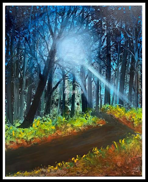 """""""The Silver Glow"""" in Oils by Aprajita Lal"""