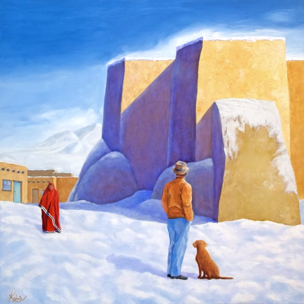 A Winter's Day at Taos-fine-art-print-s