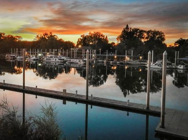 Sacramento Marina At Dusk Art | Patrick Cosgrove Art and Photography