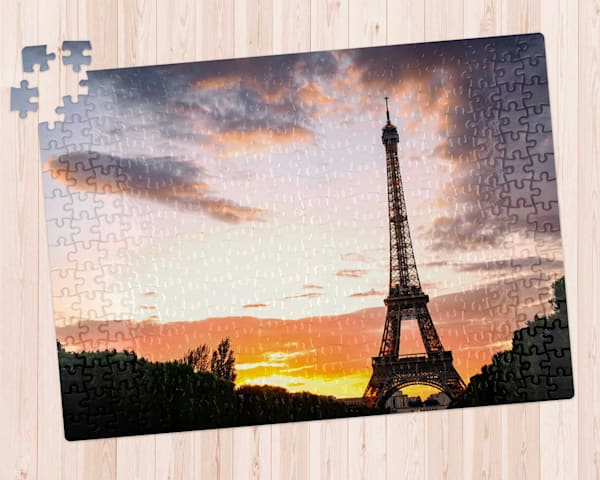Eiffel Tower At Sunset 300 pc. Puzzle