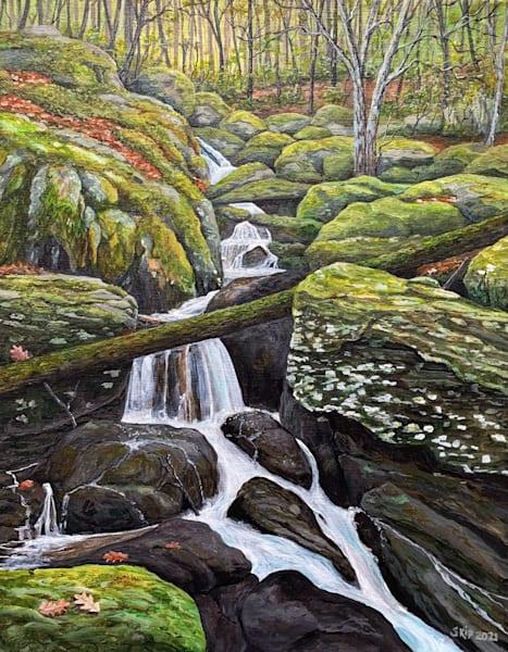 Small Mossy River Art   Skip Marsh Art