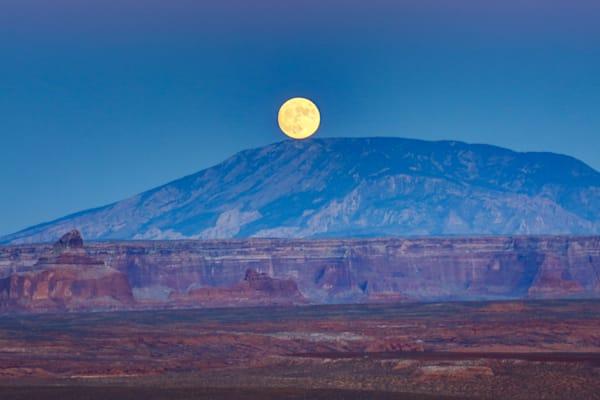 Blue Moon Over Navajo Mountain Photography Art | Mason & Mason Images