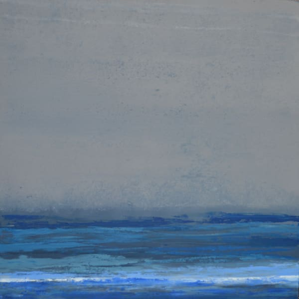 Seabreeze prints of blue ocean landscape painting by Witzling