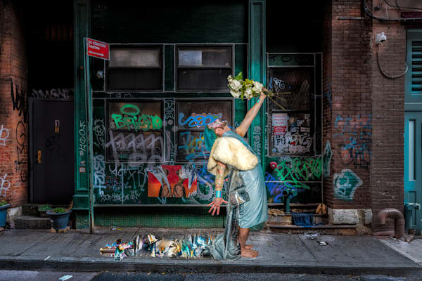 White Roses In The Gutter Photography Art | Cid Roberts Photography LLC