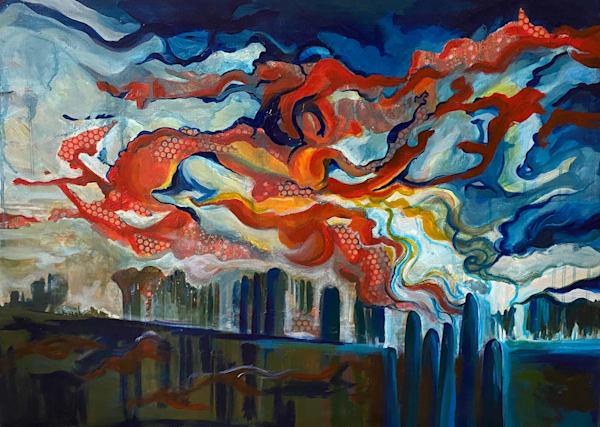 Red Sky Art   Mina Vancardo