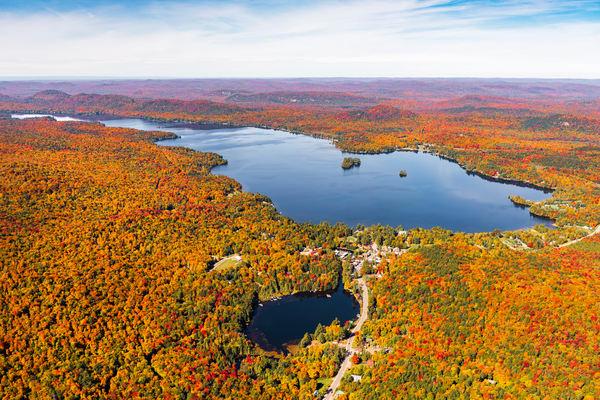 5th Lake Fall Aerial Photography Art | Kurt Gardner Photogarphy Gallery