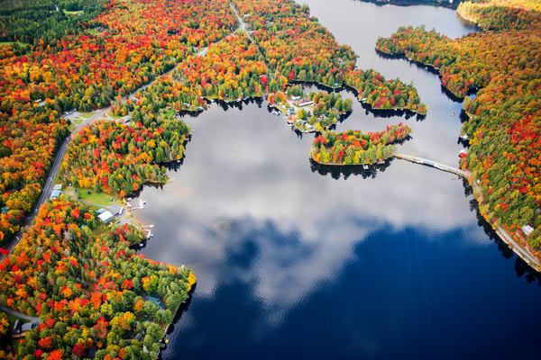 6th And 7th Fall Aerial Photography Art | Kurt Gardner Photogarphy Gallery