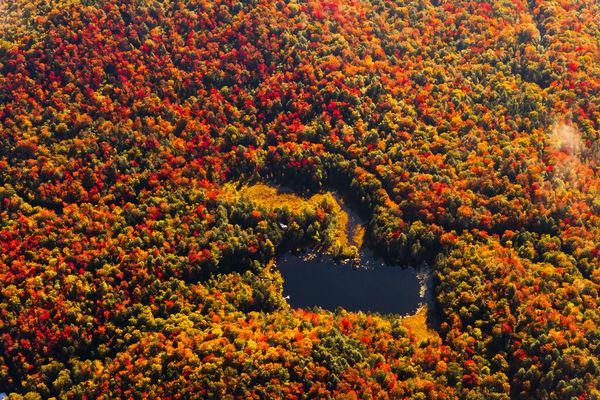 Big Chief Pond Fall Aerial Photography Art | Kurt Gardner Photogarphy Gallery