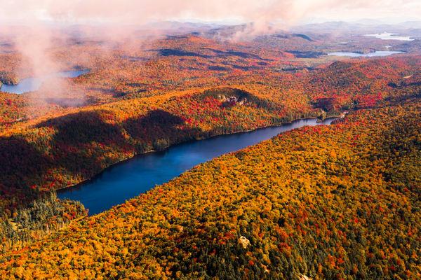 Cascade Lake Fall Aerial V1 Photography Art | Kurt Gardner Photogarphy Gallery