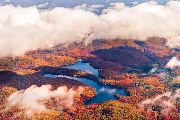 Eagle Crag Mt Arab Lake Fall Aerial Photography Art | Kurt Gardner Photogarphy Gallery