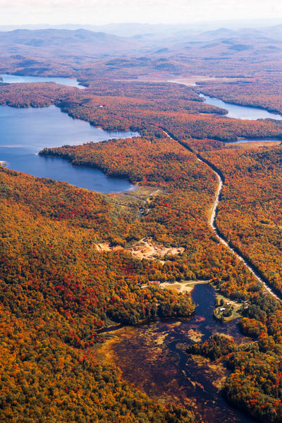 Evergreen Lake Peisico Lake Fall Aerial Photography Art | Kurt Gardner Photogarphy Gallery