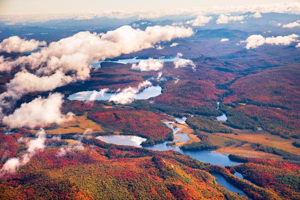 Hitchens Pond Fall Aerial Photography Art | Kurt Gardner Photogarphy Gallery