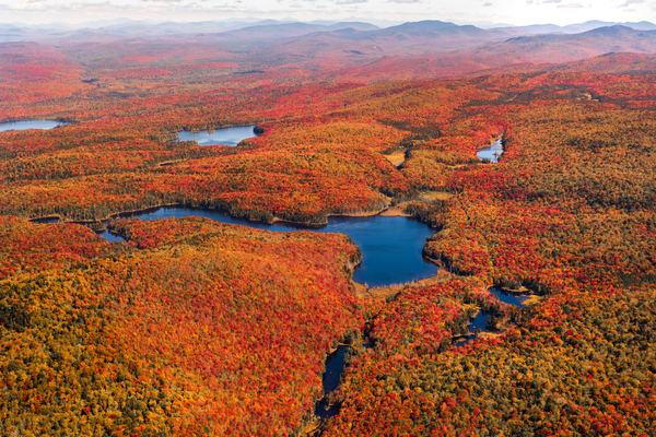 Indian Lake Muskrat Pond Fall Aerial Photography Art   Kurt Gardner Photogarphy Gallery