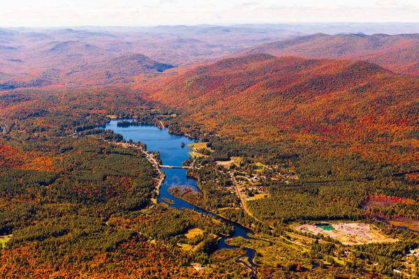Lake Algonquin Fall Aerial V12 Photography Art   Kurt Gardner Photogarphy Gallery