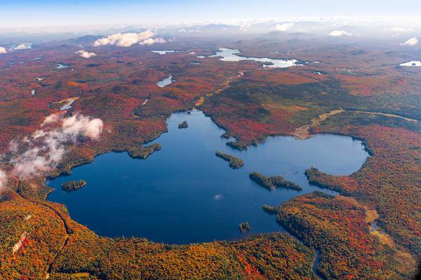 Lake Lila Fall Aerial V2 Photography Art | Kurt Gardner Photogarphy Gallery