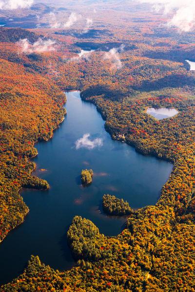 Lake Madeleine Fall Aerial V1 Photography Art   Kurt Gardner Photogarphy Gallery