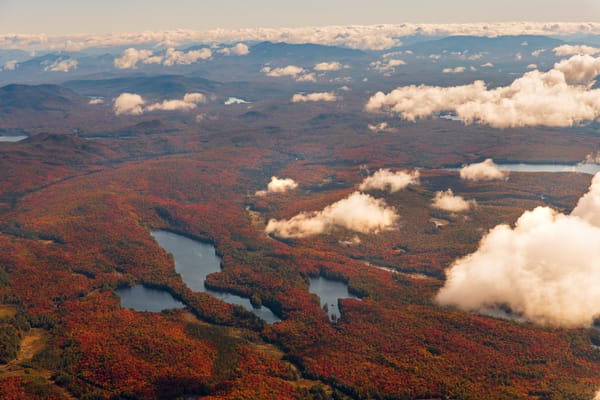Little Trout High Pond And Trout Pond Fall Aerial Photography Art   Kurt Gardner Photogarphy Gallery