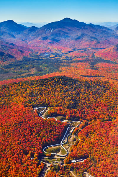 Lake Placid Bob Sled Fall Aerial Photography Art   Kurt Gardner Photogarphy Gallery