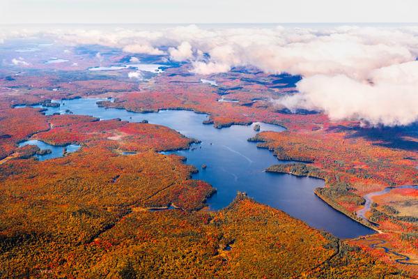 Little Tupper Lake Fall Aerial V2 Photography Art | Kurt Gardner Photogarphy Gallery