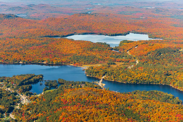 Long Lake And Lake Eaton Fall Aerial Photography Art | Kurt Gardner Photogarphy Gallery