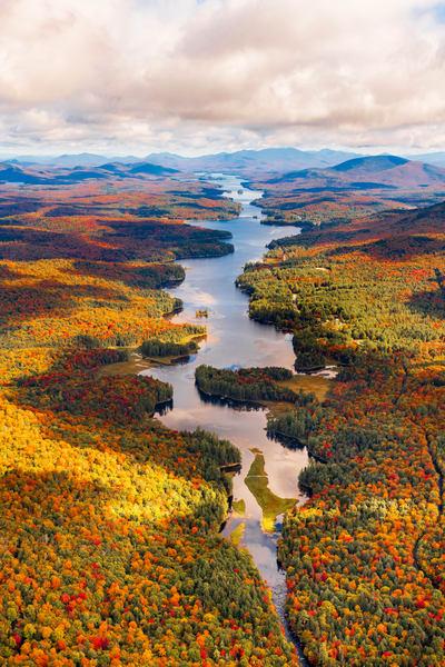 Long Lake Fall Aerial Vert Photography Art | Kurt Gardner Photogarphy Gallery