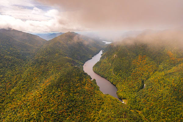 Lower Ausable Lake Aerial Photography Art | Kurt Gardner Photogarphy Gallery
