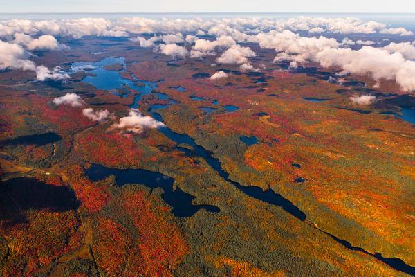 Lows Lake Fall Aerial V Photography Art | Kurt Gardner Photogarphy Gallery