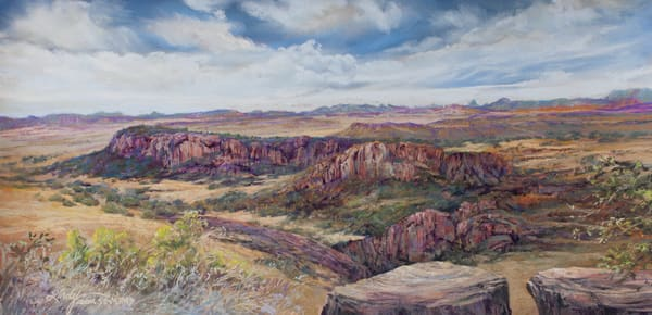 Fort Davis In Days Gone By, Print Art | Lindy Cook Severns Art