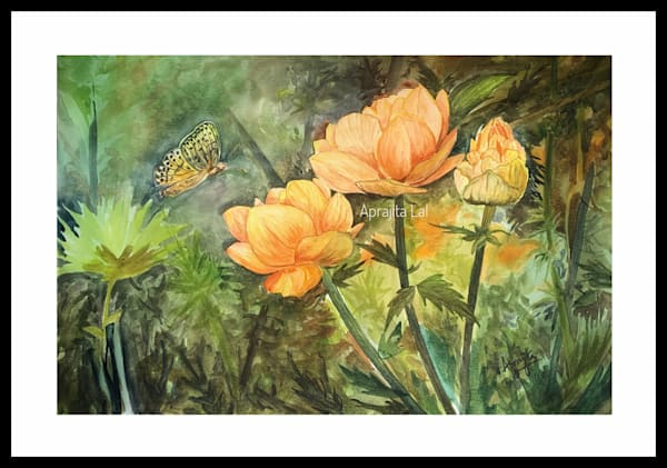 """Orange Glory"" in Watercolors by Aprajita lal (Original 12X18 inches)"