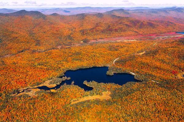 Mason Lake Fall Aerial Photography Art | Kurt Gardner Photogarphy Gallery