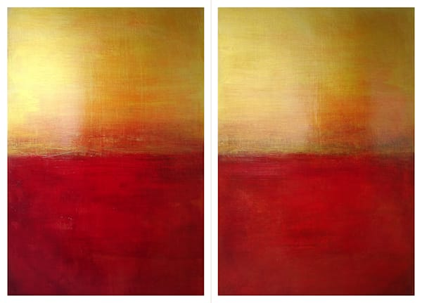 Essence of Nightfall (Diptych) - Original Abstract Painting | Cynthia Coldren Fine Art