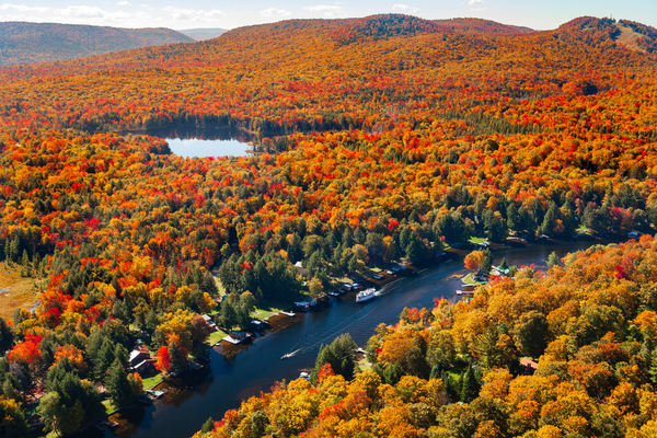 Old Forge Channel Fall Aerial Photography Art   Kurt Gardner Photogarphy Gallery