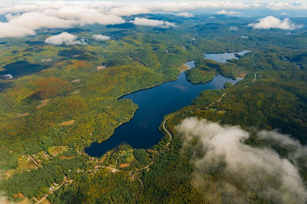 Paradox Lake Aerial Photography Art | Kurt Gardner Photogarphy Gallery