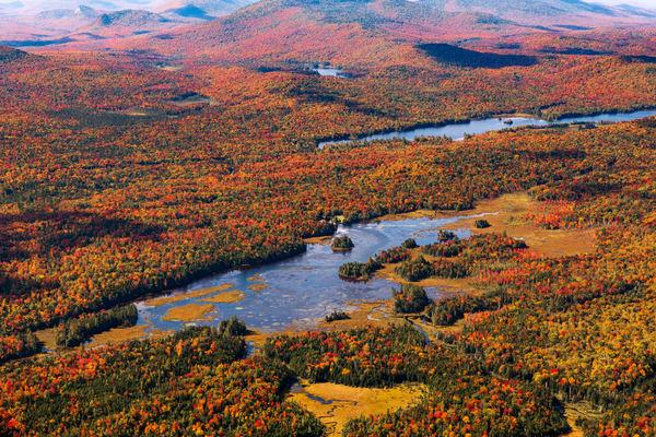 Oneal Flowage Fall Aerial Photography Art | Kurt Gardner Photogarphy Gallery