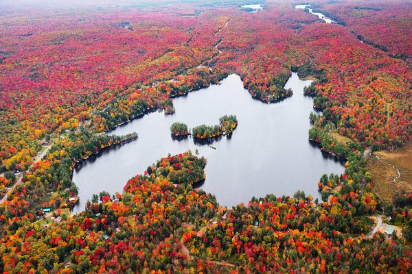 Otter Lake Fall Aerial Photography Art | Kurt Gardner Photogarphy Gallery