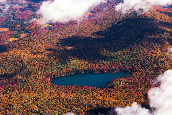 Panther Pond Fall Aerial Photography Art | Kurt Gardner Photogarphy Gallery