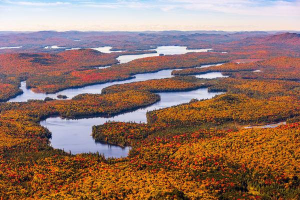 Plumbley Pond Fall Aerial Photography Art | Kurt Gardner Photogarphy Gallery