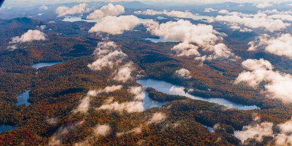 Queer Lake Fall Aerial V3 Photography Art | Kurt Gardner Photogarphy Gallery