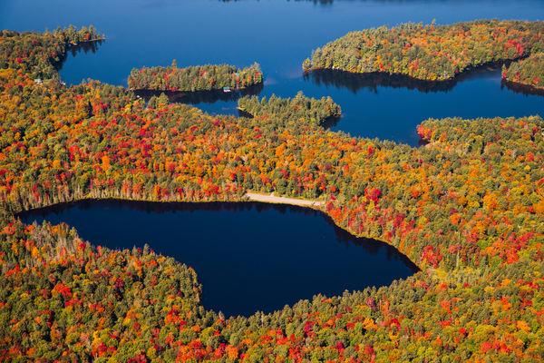 Quiver Pond Fall Aerial V1 Photography Art | Kurt Gardner Photogarphy Gallery