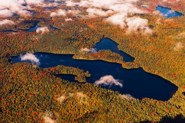 Queer Lake Fall Aerial V2 Photography Art | Kurt Gardner Photogarphy Gallery