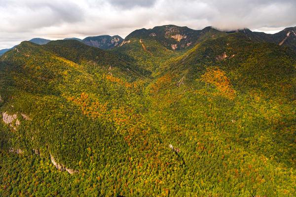 Rainbow Fall Gothics Pyramid Saddleback Mt Aerial Photography Art | Kurt Gardner Photogarphy Gallery