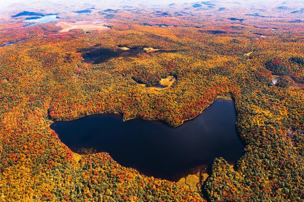 Sand Lake Fall Aerial Photography Art   Kurt Gardner Photogarphy Gallery