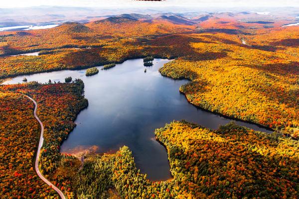 South Pond Fall Aerial Photography Art   Kurt Gardner Photogarphy Gallery