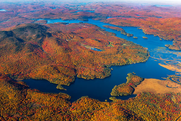 Tupper Lake Simone Pond Fall Aerial V2 Photography Art   Kurt Gardner Photogarphy Gallery